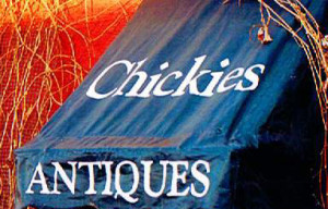 Chickies Antiques Sign