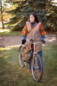 Kristen on bike